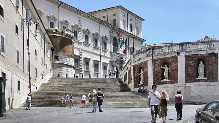 Le palais du Quirinal est l'une des trois résidences du président italien