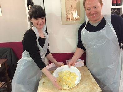 cours de cuisine à Rome