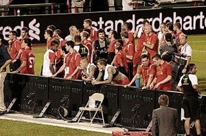 Des joueurs de l'AS Roma.