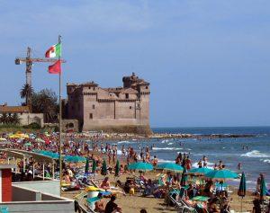 La plage Santa Severa Rome.