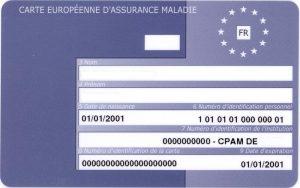 La Carte Européenne d'Assurance Maladie.