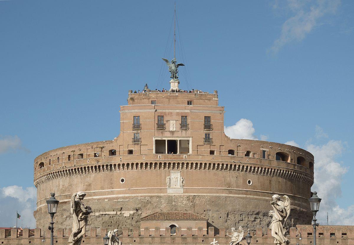 Castel_Sant'Angelo, le mausolée d'Adrien, à Rome