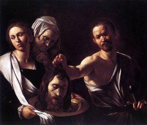 Le tableau Salome du Caravage.