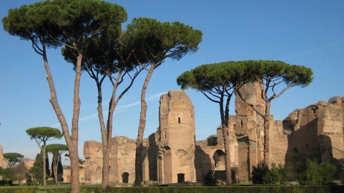 Les thermes de Caracalla.