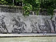 fresque sur les berges du Tibre Rome