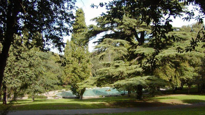 Le parc de la Villa Borghese.