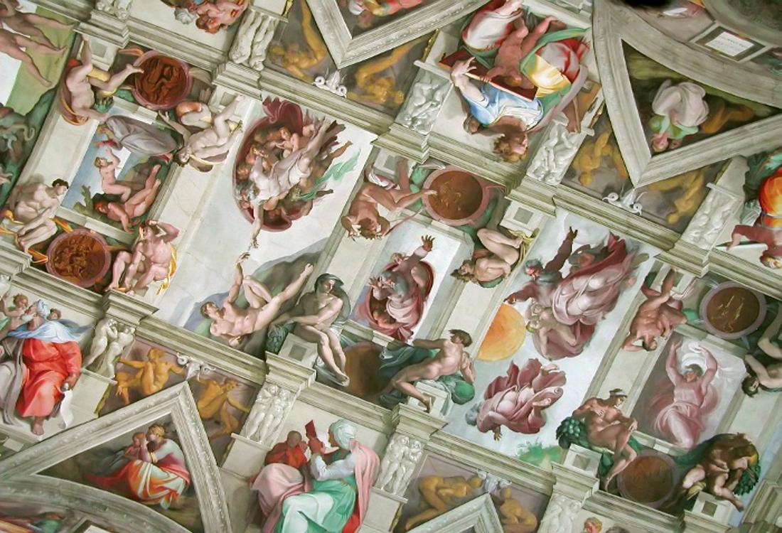 chapelle sixtine voute Rome
