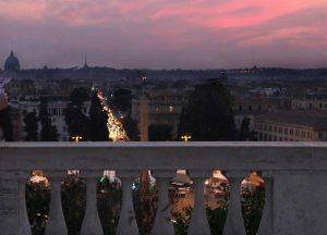 coucher de soleil pincio rome