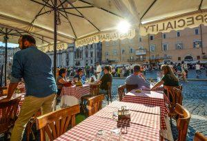 pickpockets terrasse Rome.