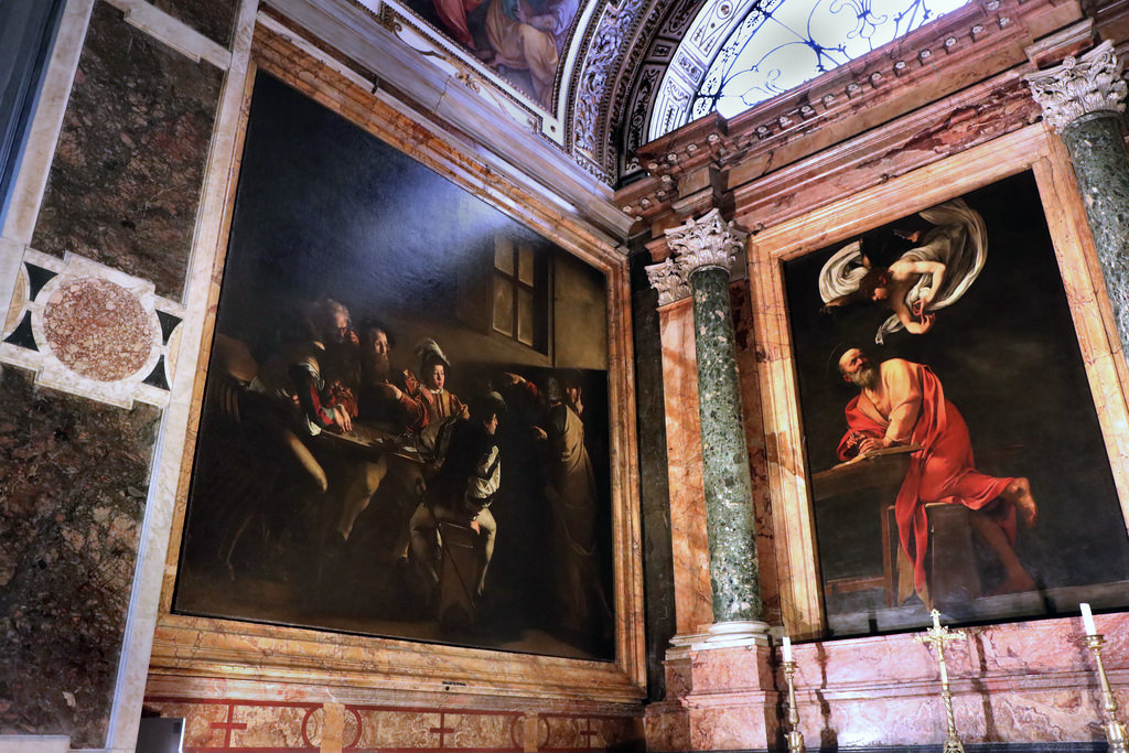 Caravage Rome budget églises