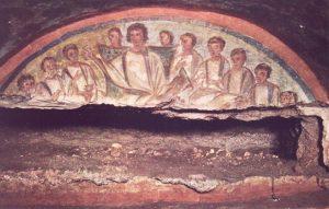 fresques catacombes de Domitilla rome