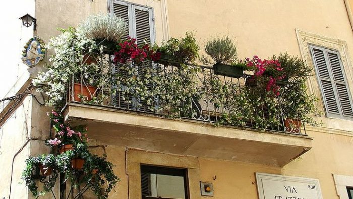 Rome détails balcon