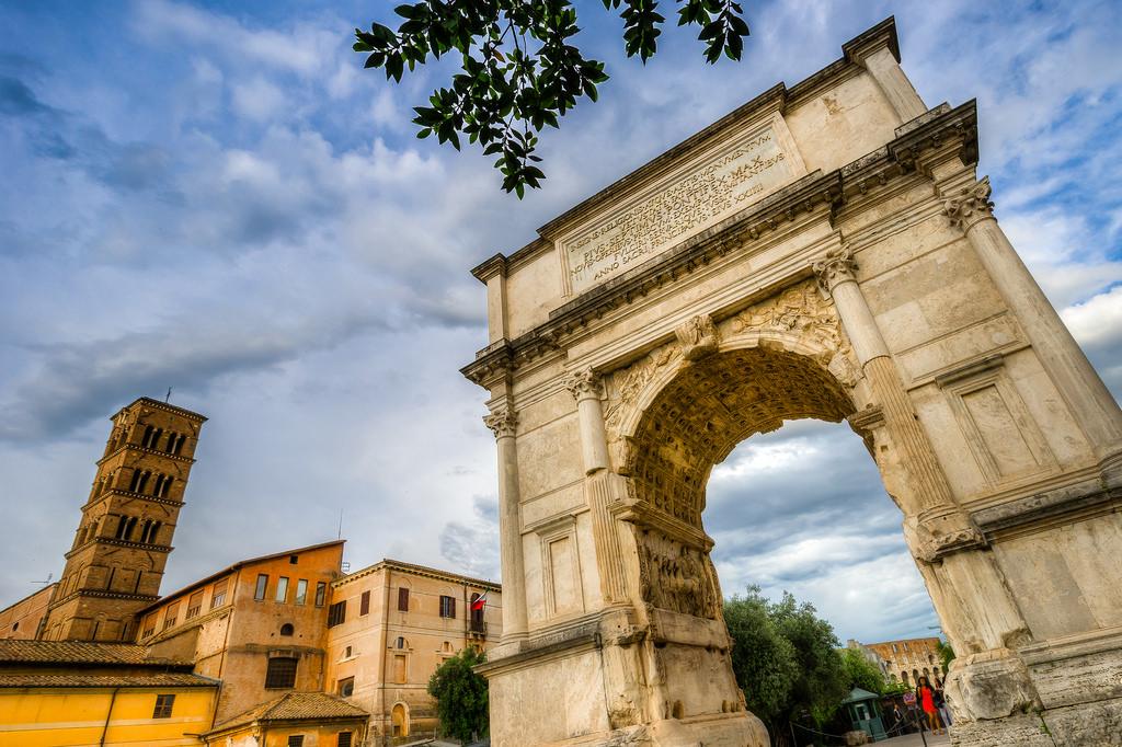 Arche de Titus à Rome.
