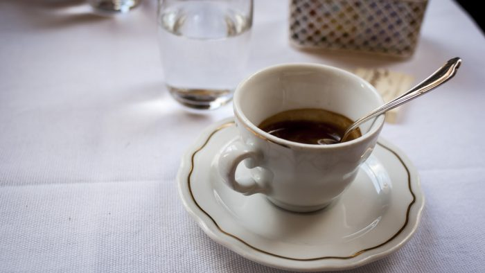 café expresso italien Rome.