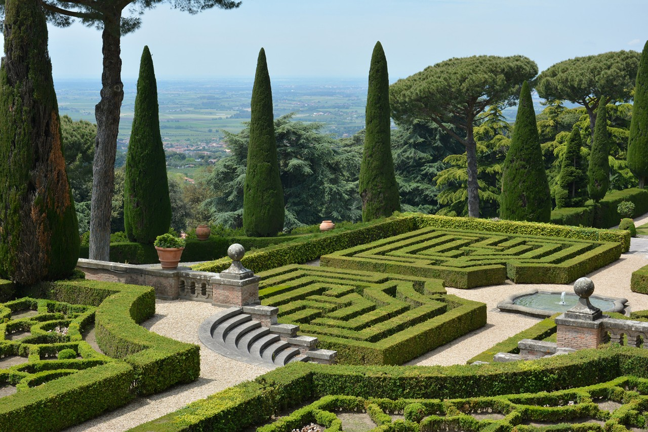 Les jardins du pape Castel Gandolfo