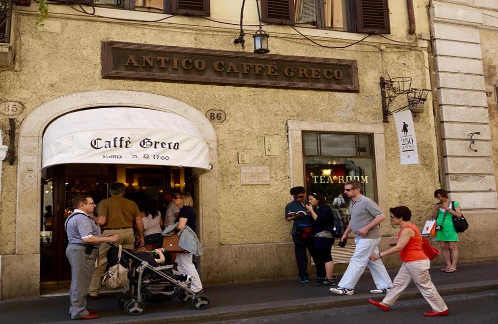 Rome antico caffe greco.