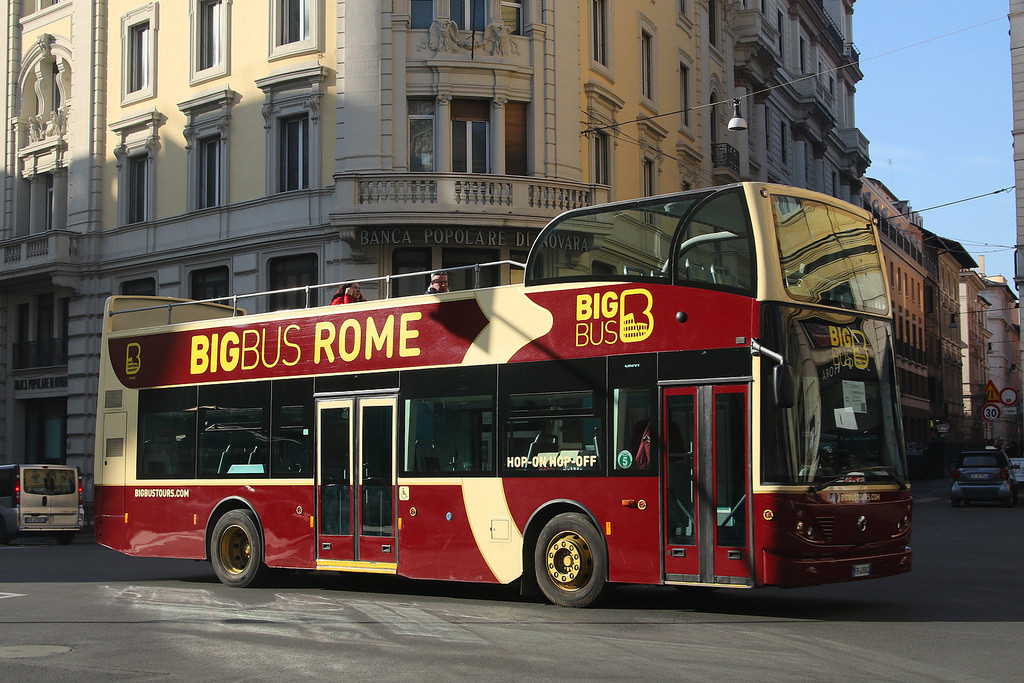 bus panoramique Rome