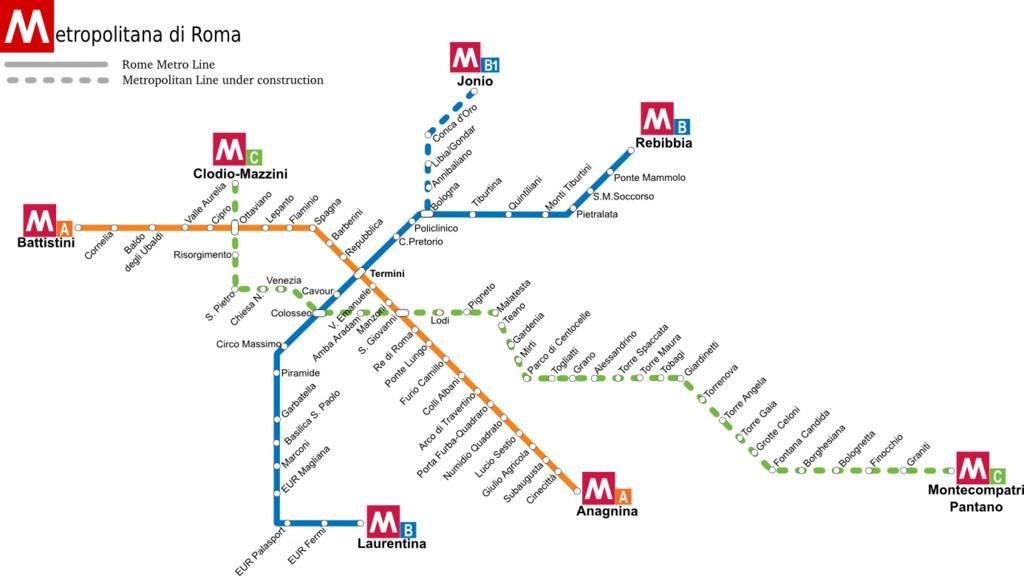 plan station de métro Rome