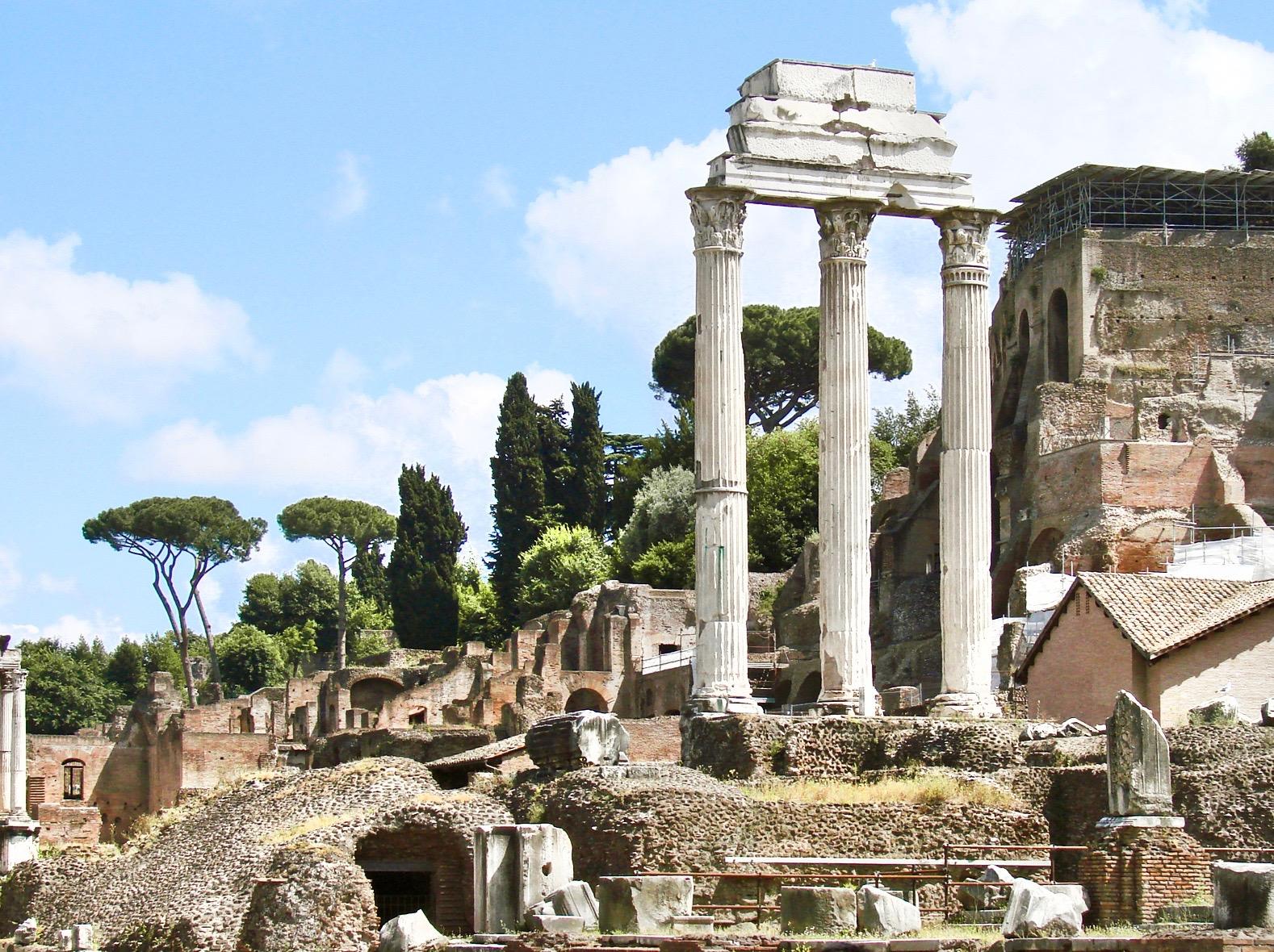 Le_temple_des_Dioscures_Forum_romain Rome pass