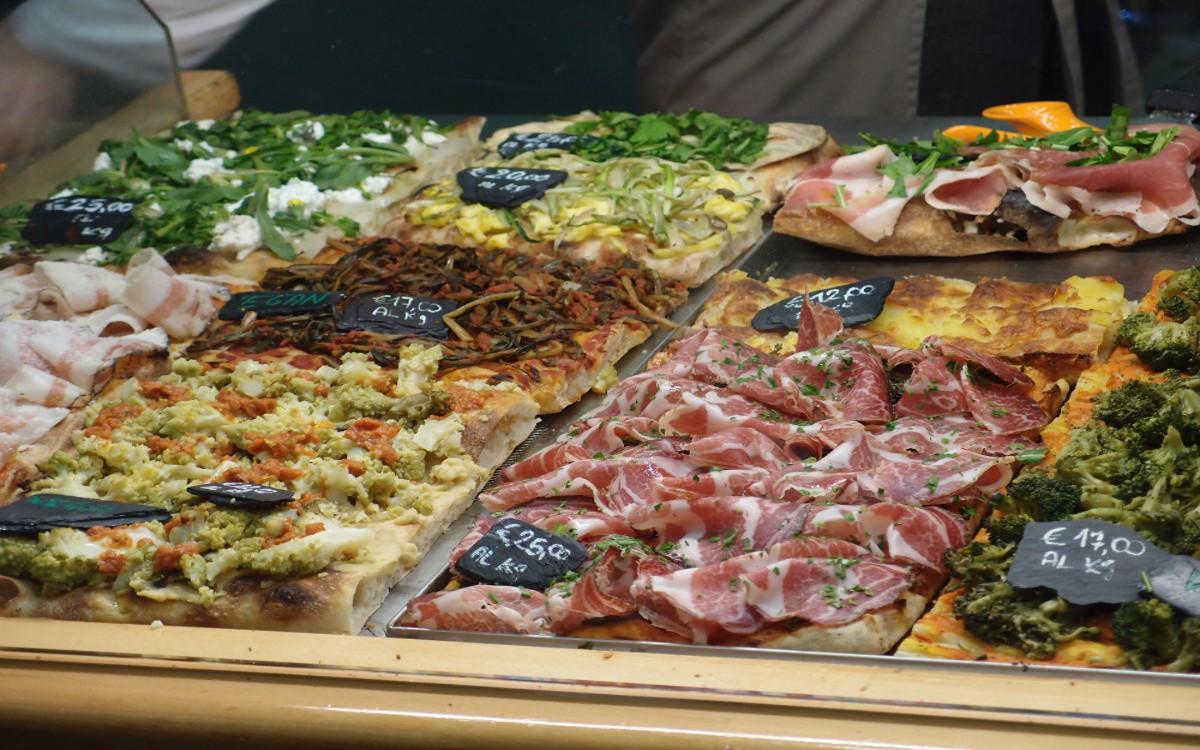 pizza au pizzarium rome.