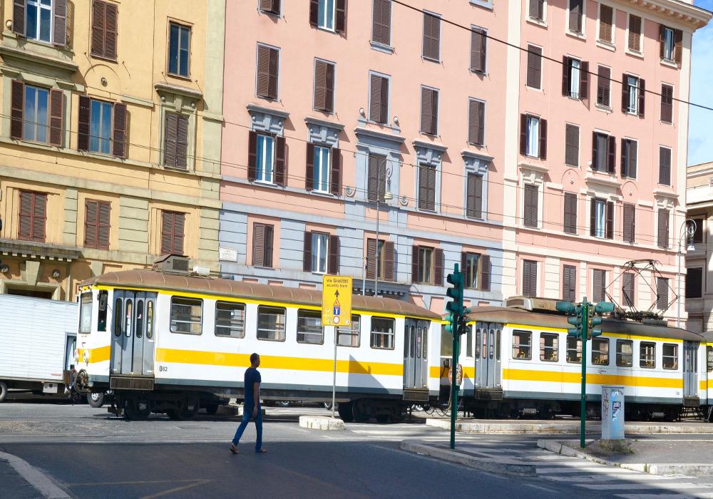 Station de tramway à Rome