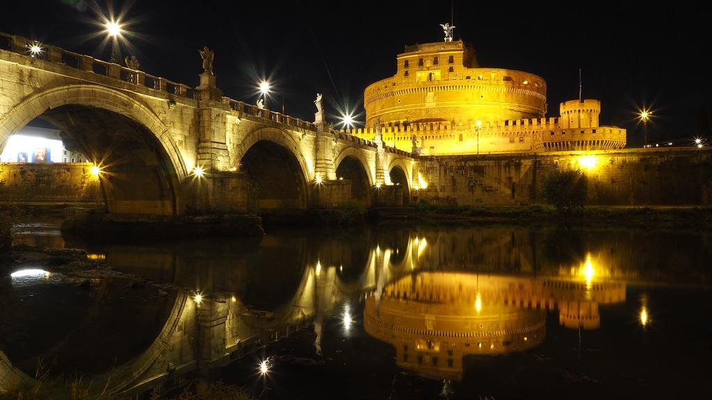 chateau saint-ange croisière nuit Rome