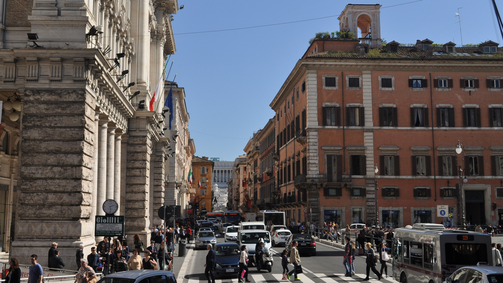 via del corso shopping Rome