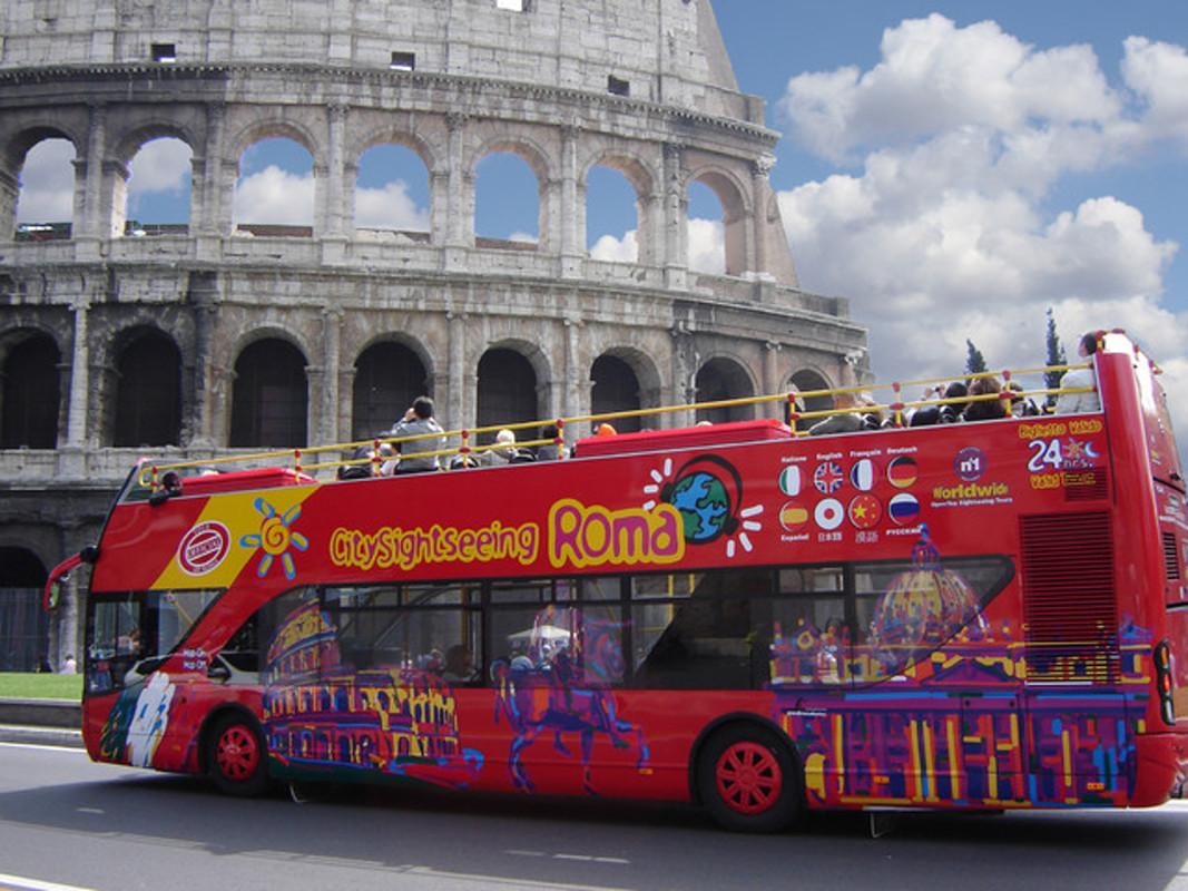 Rome bus touristiques.