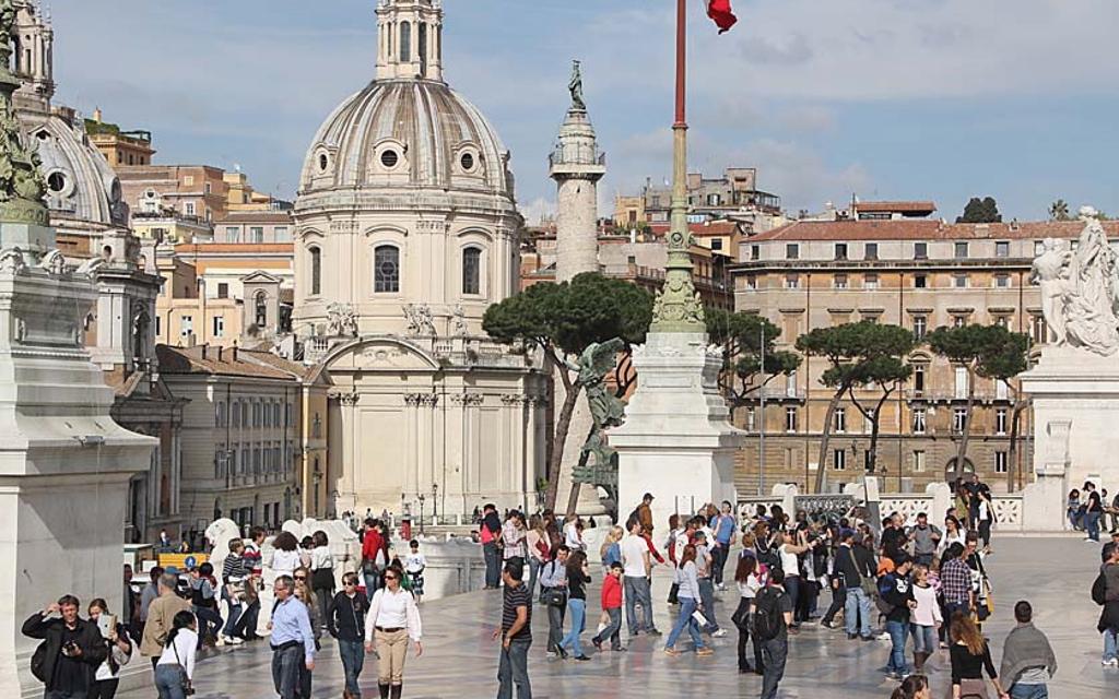 acces vue panoramique terrasses vittoriano rome