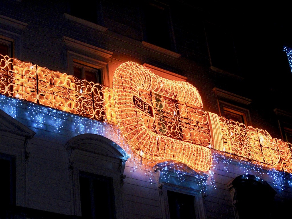 decorations noel rues rome