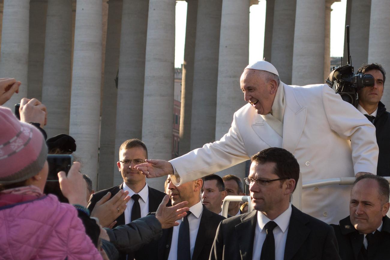 pape françois rome inauguration crèche Noel 2018