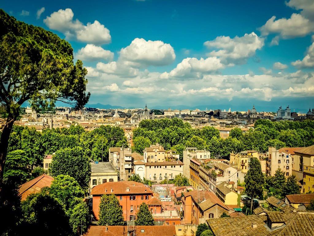 vue du parc du Janicule Rome