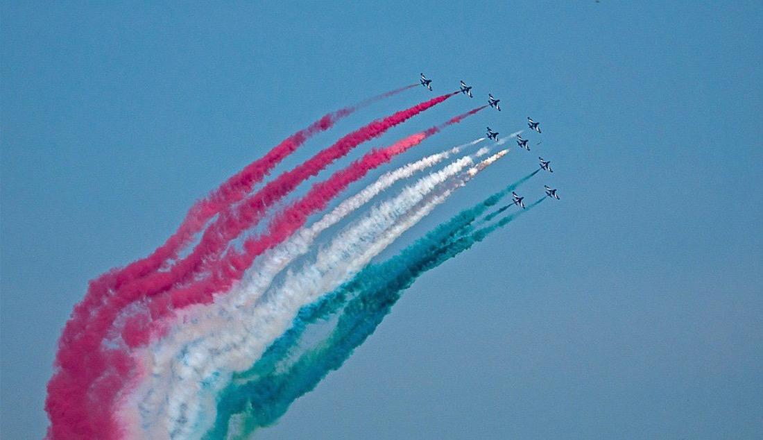fête de la république italienne rome le Frecce tricolori