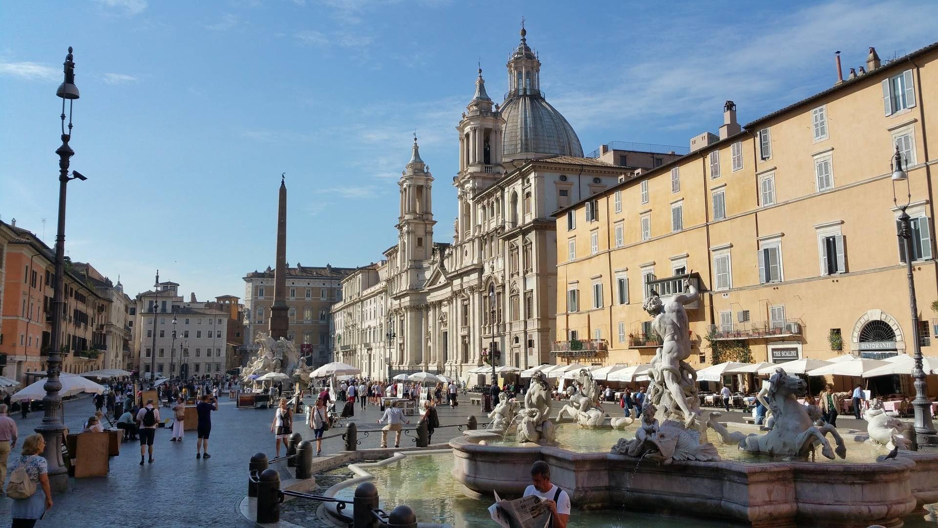 La Piazza Navona est la place la plus visitée à Rome