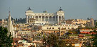 La colline du Capitole, avec le monument à Victor Emmanuel II