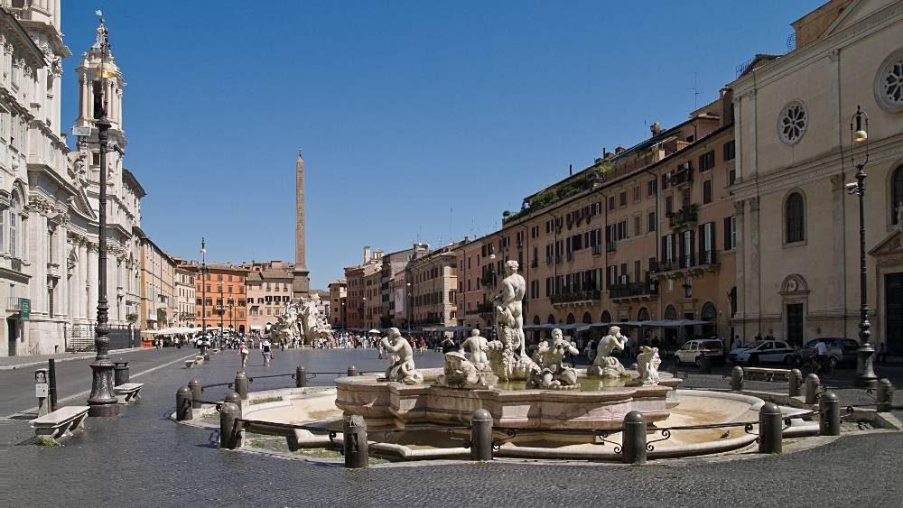 La Piazza Navona, au cœur du centre historique de Rome