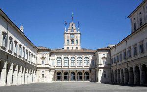 La cour intérieure du palais du Quirinal