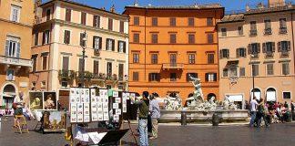 Ambiance sur la Piazza Navona. (Photo Wengen)