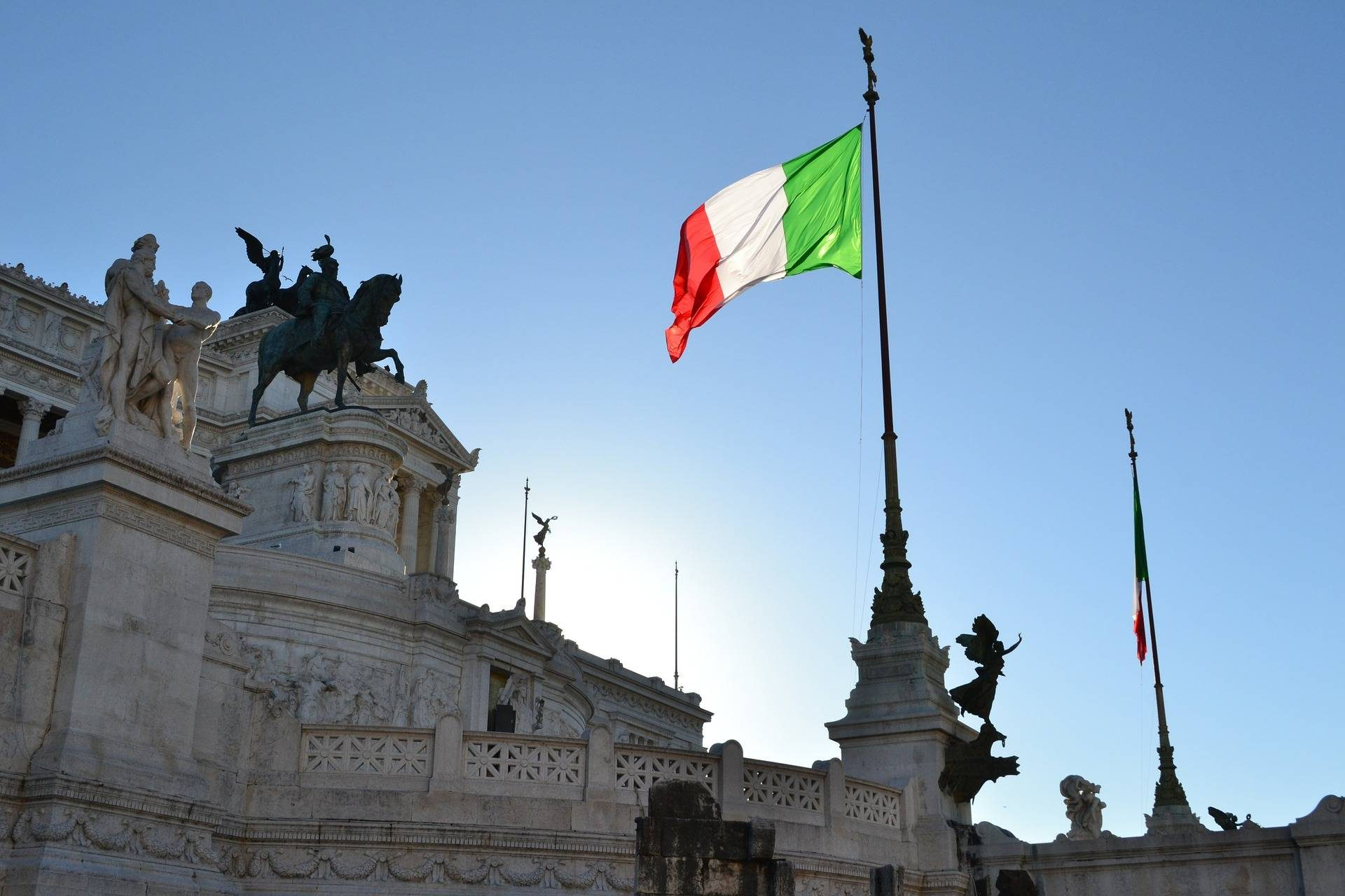 Drapeau italien rome