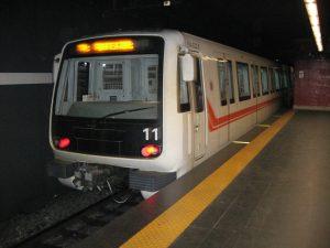 Une rame du métro de Rome