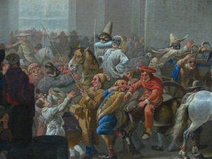 Le carnaval peint par Johannes Lingelbach en 1650.