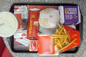 Un menu classique McDonald's.