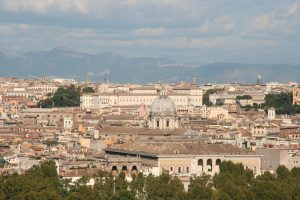 Vue panoramique depuis le Janicule.