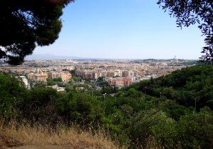 Vue du Monte Mario à Rome.