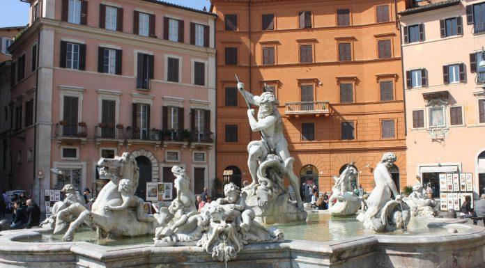 La Fontaine de Neptune à Rome.
