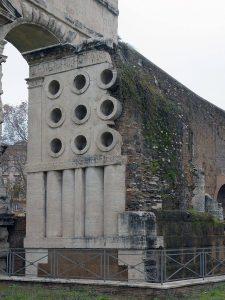 La tombe d'Eurysaces, à Rome.