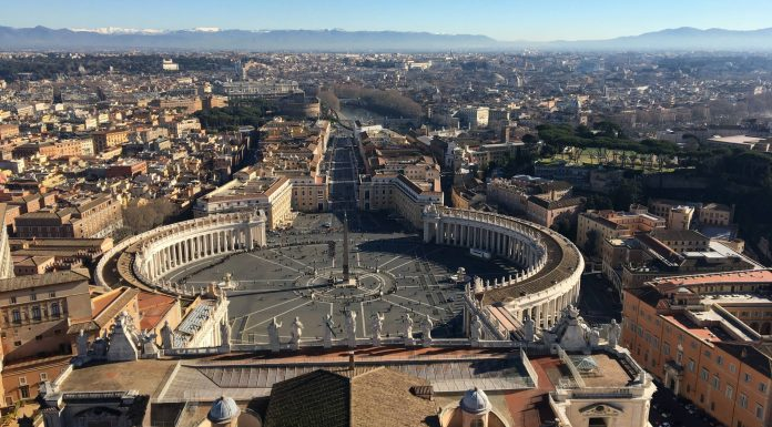 Rome vue du ciel.
