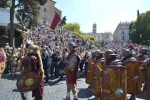 Anniversaire de Rome place du Capitole.