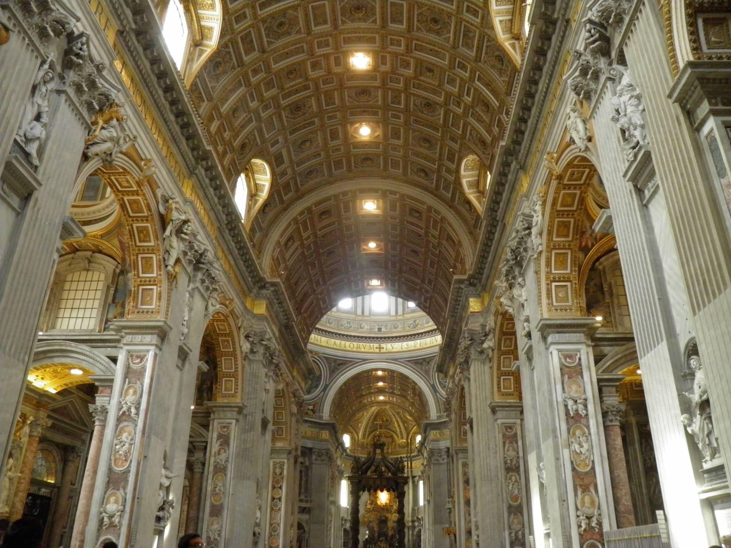 La basilique Saint Pierre a Rome.