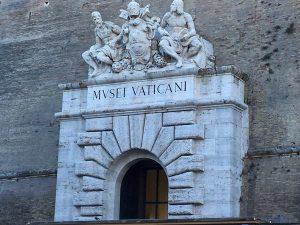 L'entrée des musées du Vatican.